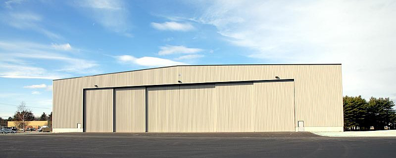 large metal aircraft hanger