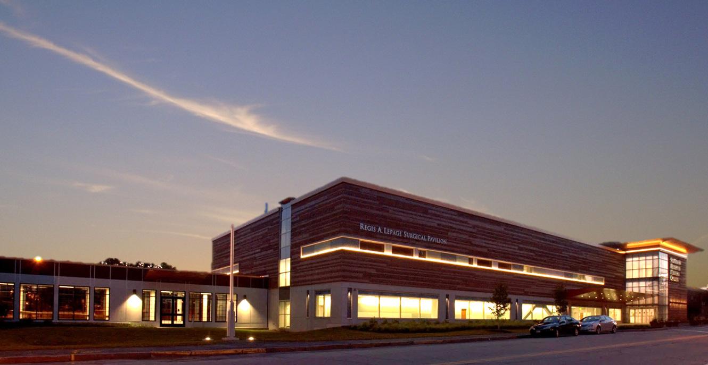 Regis A. Lepage Surgical Pavilion building exterior.